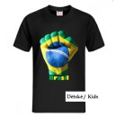 Brazil T-Shirt, FAN style, The Power, Black, Kids, Youth